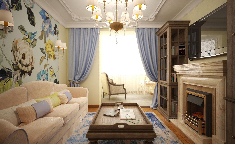 Проект дизайн квартиры в стиле прованс