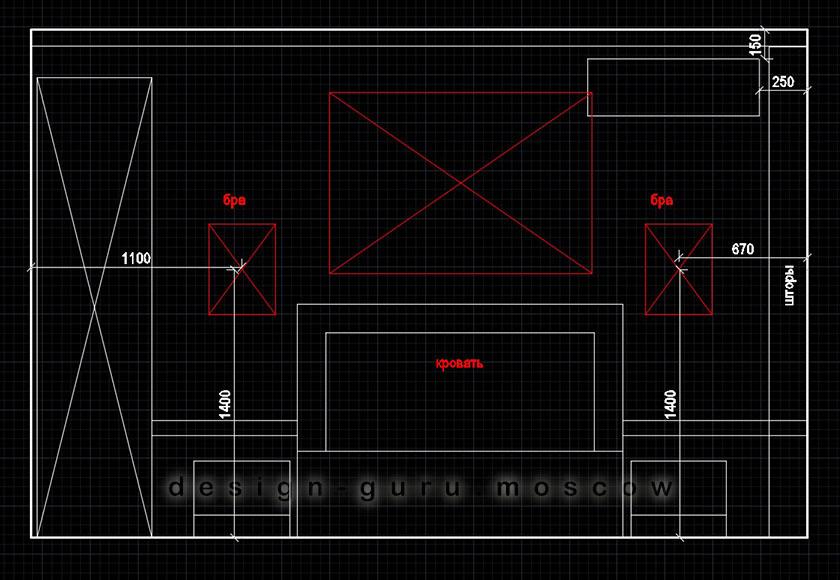 Дизайн проект с кондиционером в интерьере