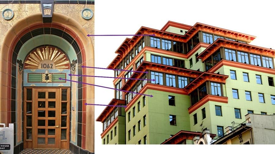 Соответствие цветовой палитры отеля в Чикаго и Садовая Плаза
