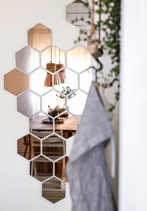 Необычное зеркало в интерьере