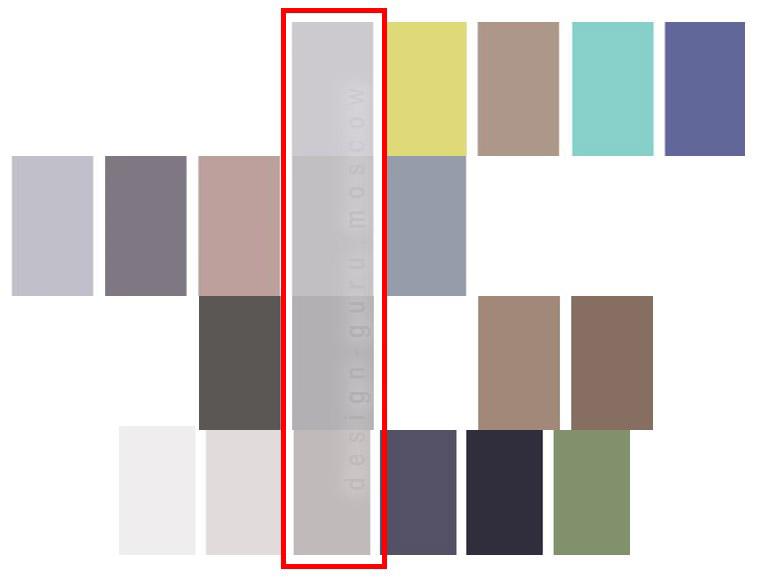 Соединение нескольких цветовых палитр при помощи одного общего цвета