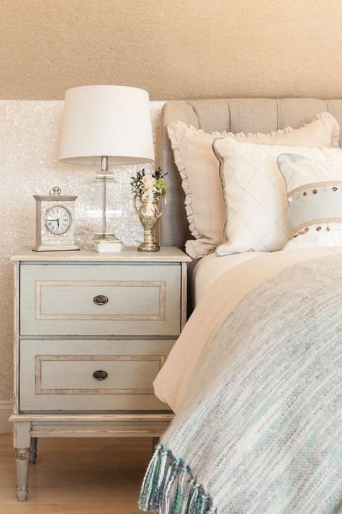 Мягкие постельные отделки мебели, цвета жемчуга