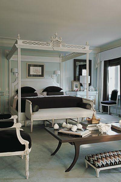 Пример спальни шинуазери от Мэри МакДональд