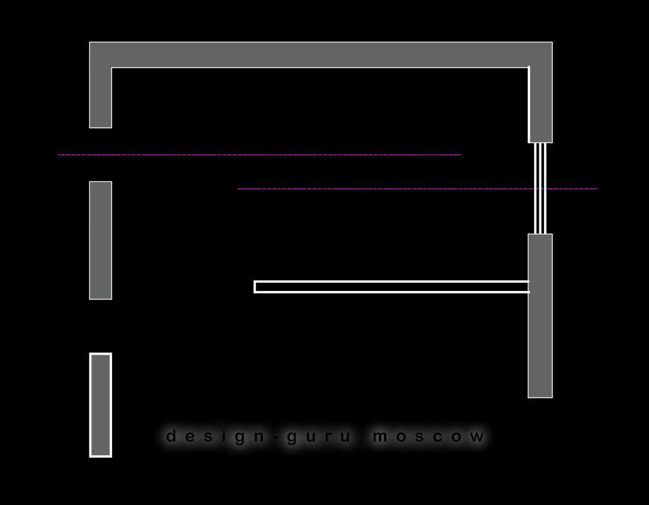 Ошибка проектирования интерьера - две оси в интерьере