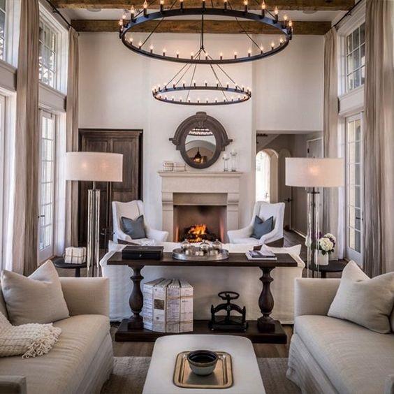 Симметричный интерьер гостиной. Зачем нужно соблюдать оси в интерьере.