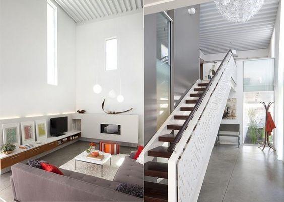 Гостиная в доме в стиле минимализм