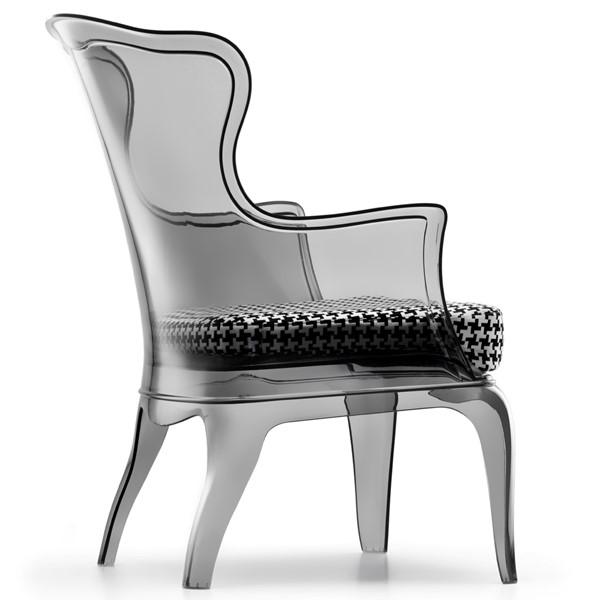 Современное пластиковое кресло классической формы