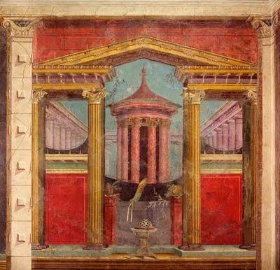 Фреска с раскопок в Помпеях