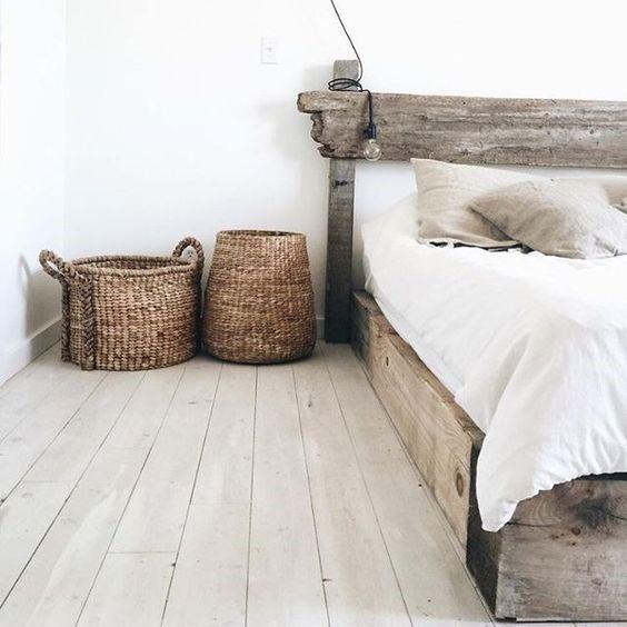 Спальня в стиле ваби-саби