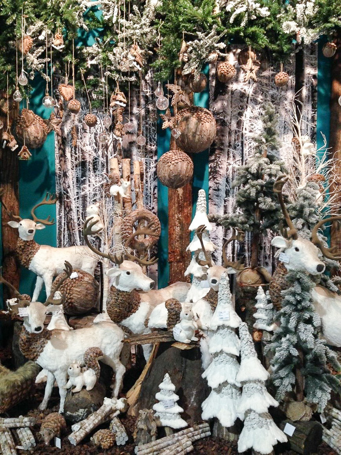 Зимний декор на январской выставке в Милане