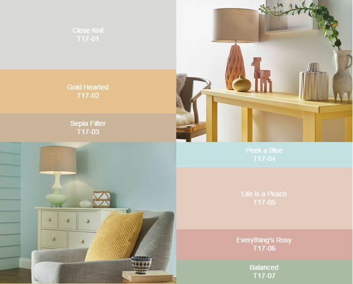 Набор цветов Comfortable Palette от Behr