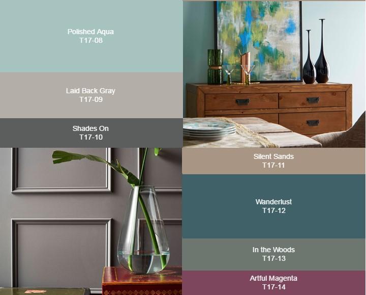 Набор цветов Composed Palette от Behr