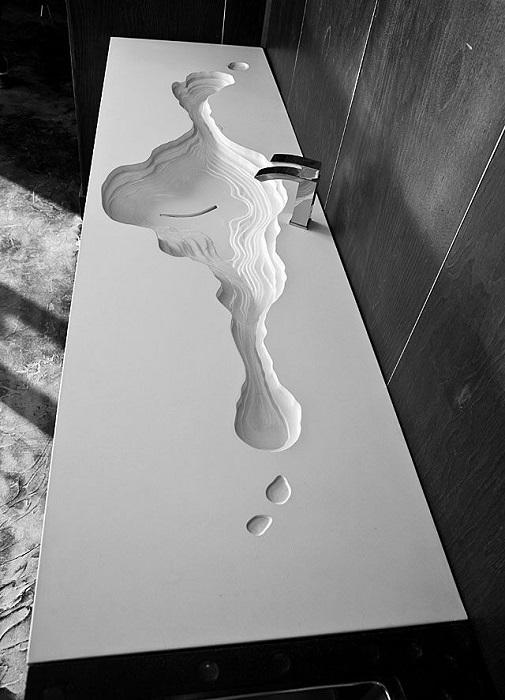 Дизайнерская раковина из искусственного камня