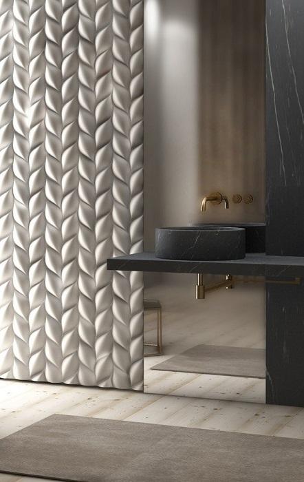 Раковина в ванной комнате из искусственного камня