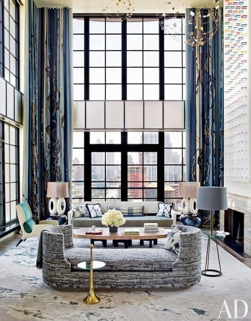 Комната в современном стиле дизайнера Жана Луи Денио