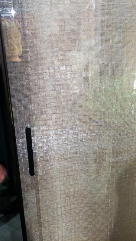 металлизированная ткань внутри стекла
