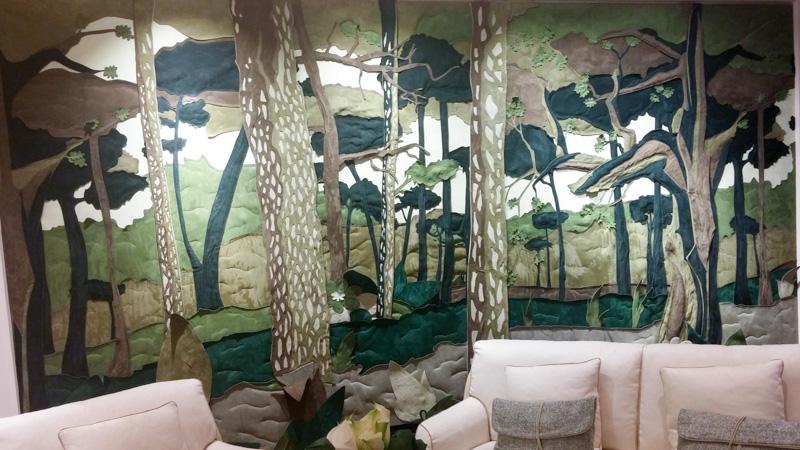 Буазери из кожи в виде леса от фабрики Lodovica Mascheroni