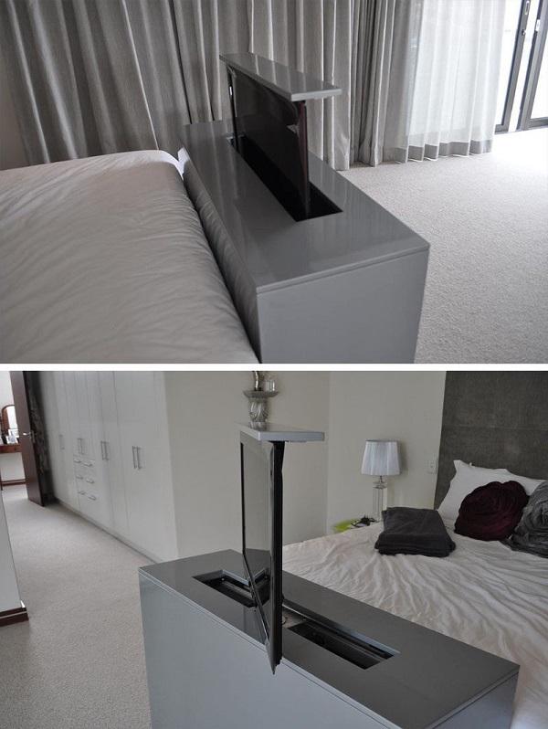 Телевизор встроенный в кровать