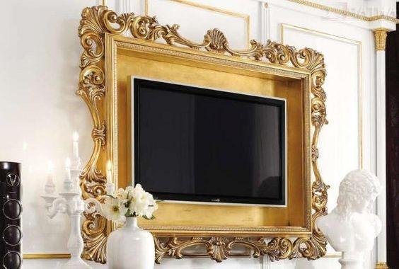 Телевизор с рамой от картины