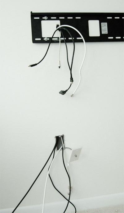 Провода на стене для телевизора