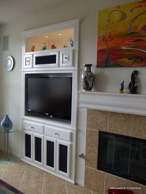 Телевизор встроенный в шкаф