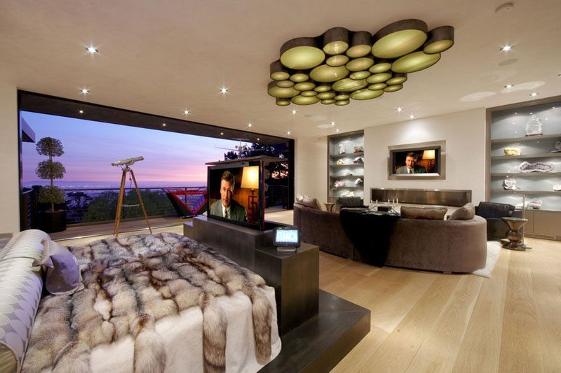 Интерьер со встроенным телевизором