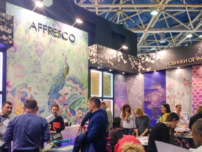 Стенд фабрики Affresco на Mosbuild 2017