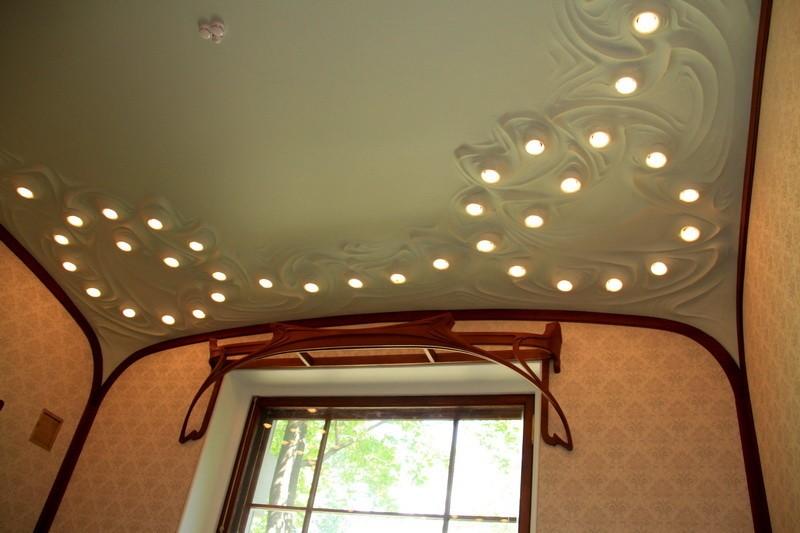 Потолок в особняке Дзержинской, архитектора Шехтеля