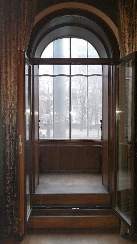 Окна из хозяйского кабинета