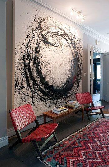 Абстрактное искусство в интерьере