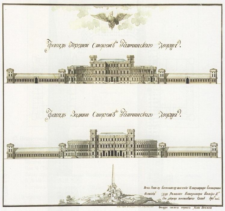 Первоначальный проект гатчинского дворца