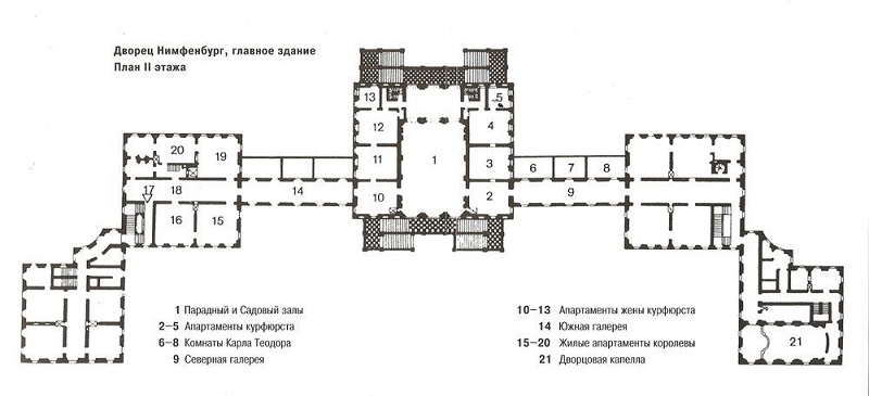 Планировка дворца курфюрстов