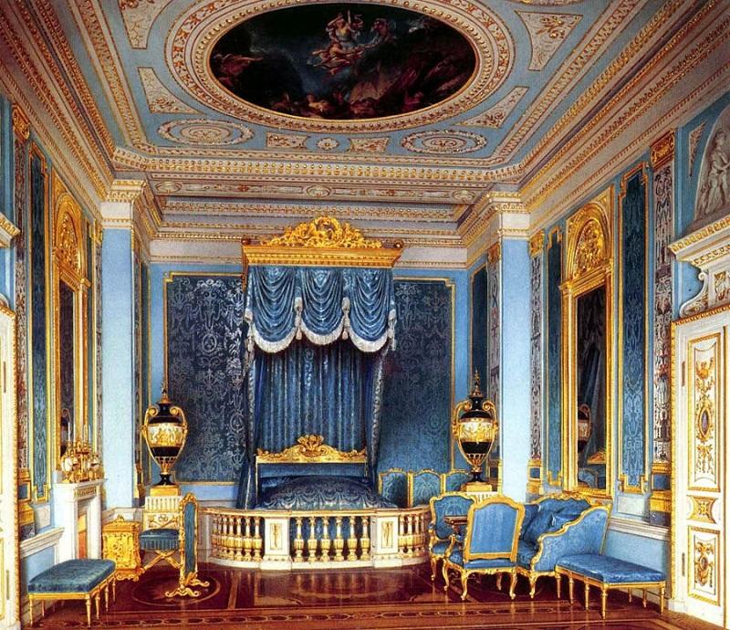 Акварель парадной спальни во дворце