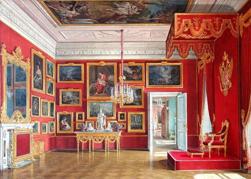 Акварель тронного зала императрицы
