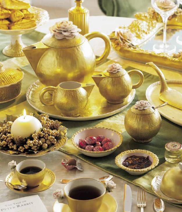 Чайный набор Villari в золотой отделке
