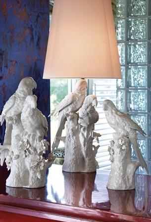 Фарфоровые попугаи Villari