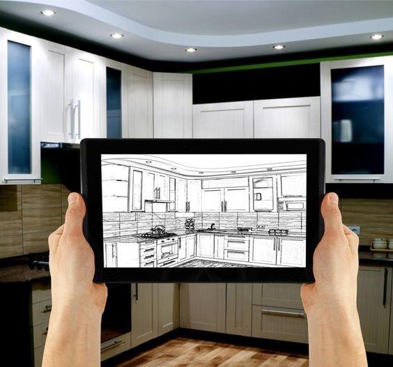 Визуализация кухни на планшете