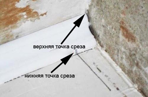 Угловая подрезка плинтуса
