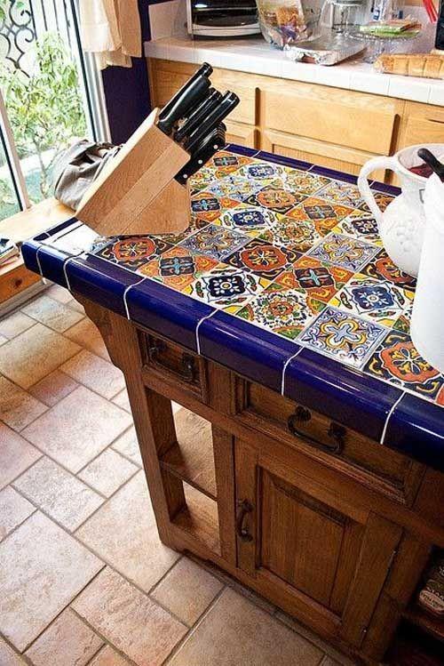 Столешница не кухню из керамической плитки