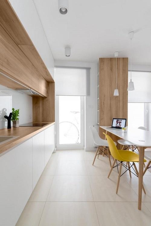Дизайн современной кухни в белом цвете