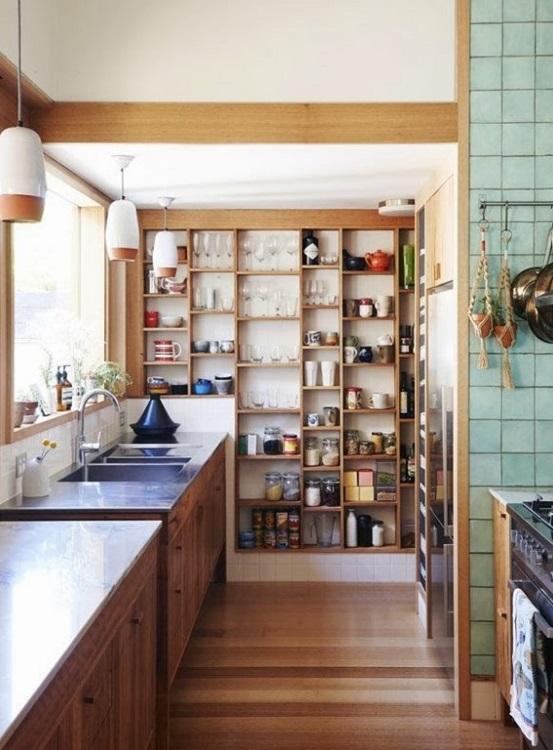 Пол из ламината на кухне