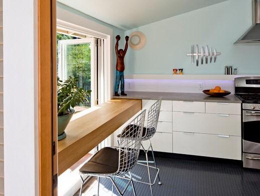 Половое покрытие из резиновой крошки на кухне