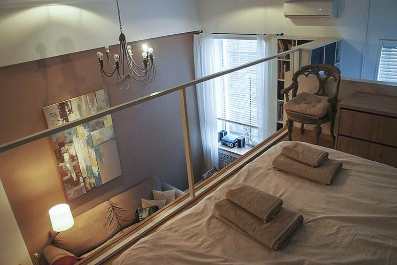 Пример маленькой двухуровневой квартиры