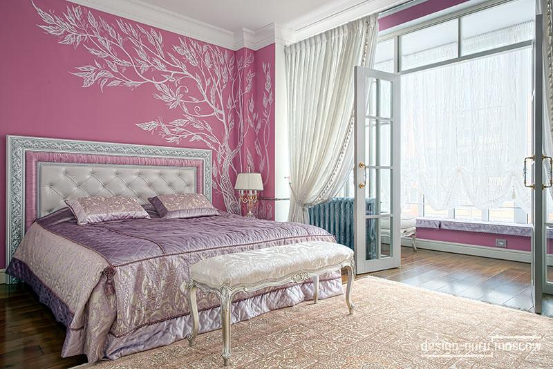 Проект спальни в классическом стиле. Дизайнер Надежда Кузина