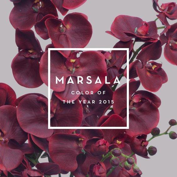 Марсала - цвет 2015 года