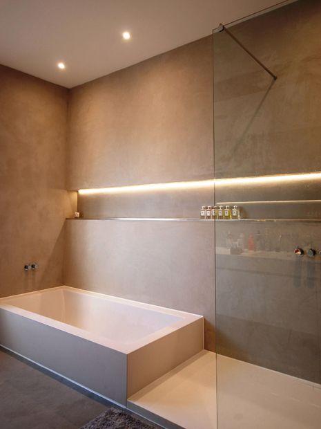 Бесшовная плитка в интерьере ванной комнаты
