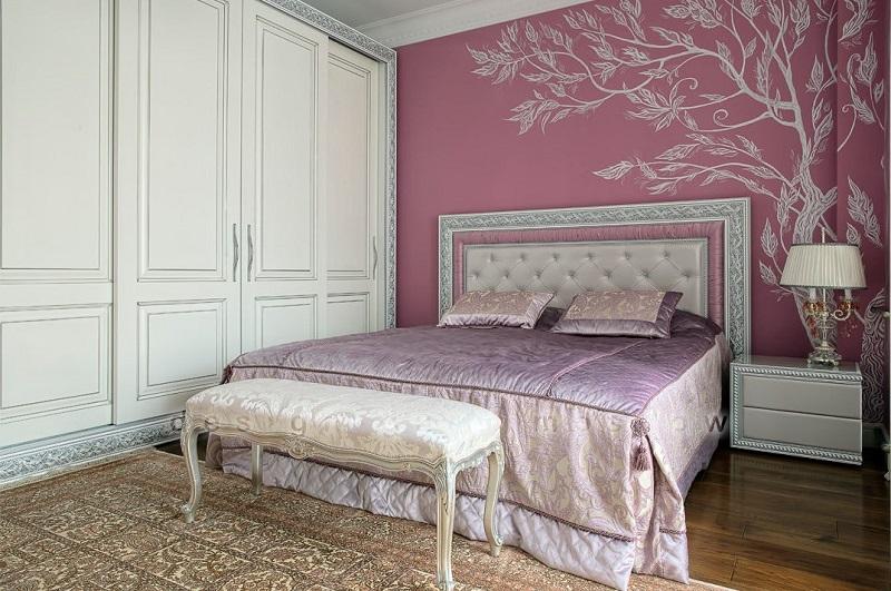 Дизайн спальни в классическом стиле. Проект Надежды Кузиной