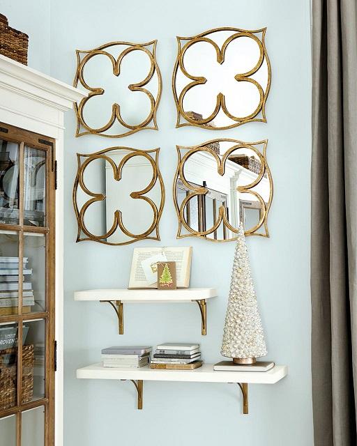 Декоративные зеркала с металлическими рамами
