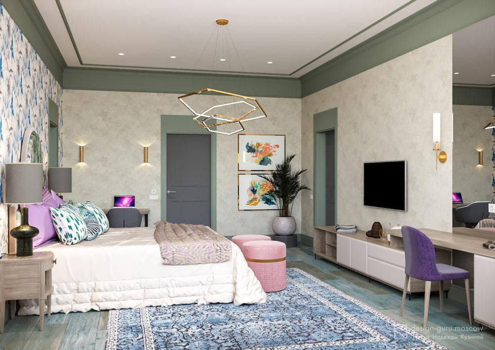 Дизайн интерьера спальни в стиле винтаж