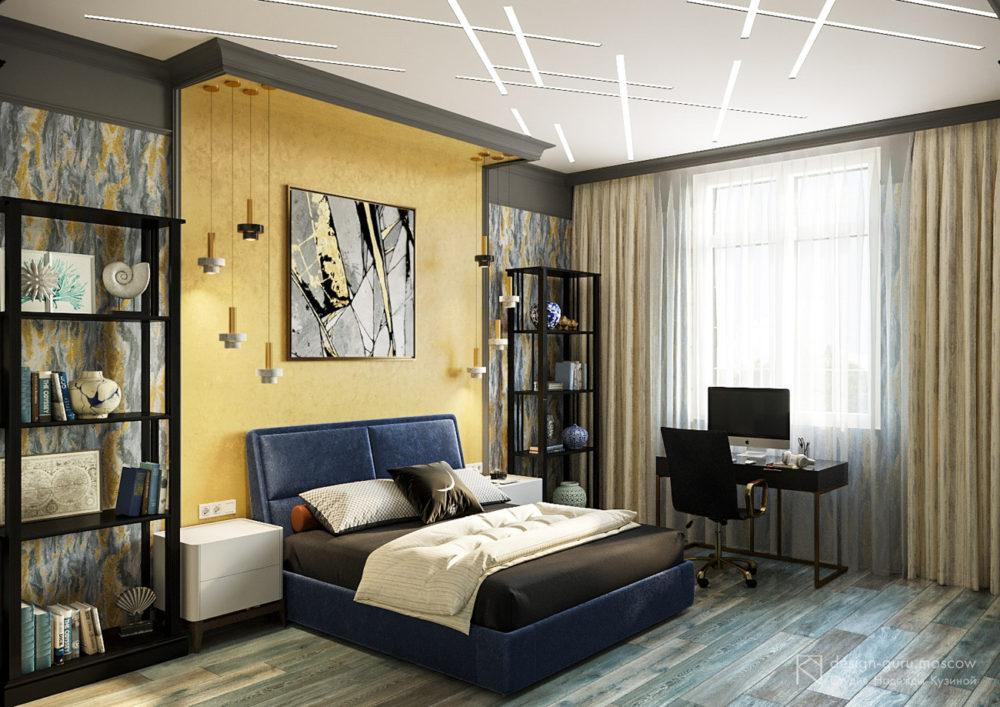 Дизайн интерьера спальни для подростка